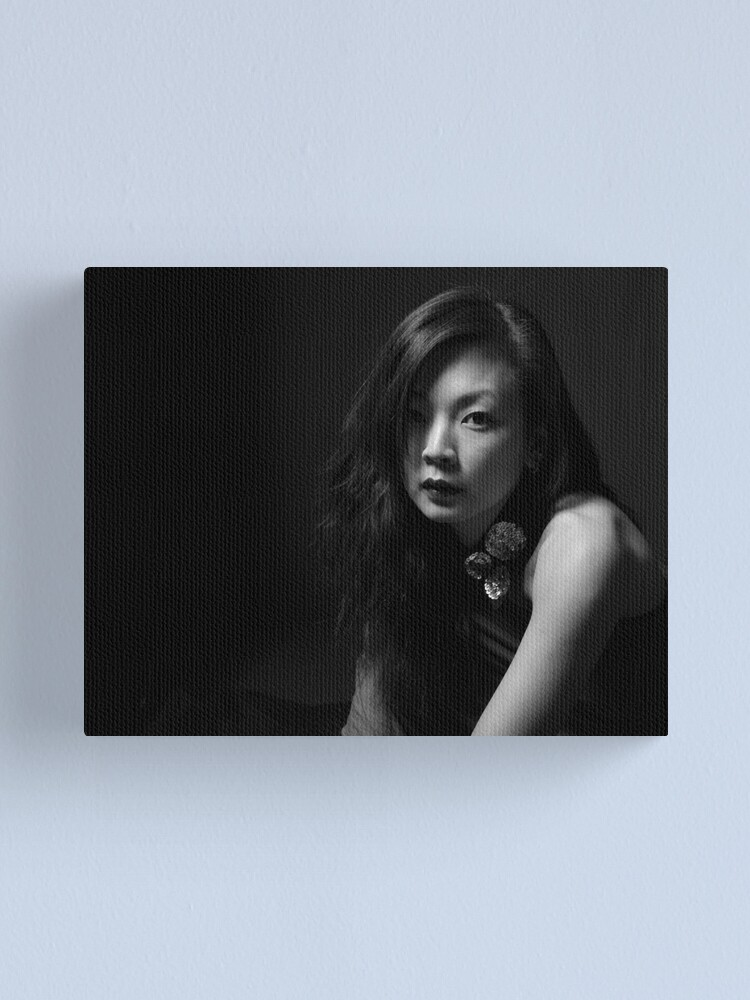 Alternate view of woman in black Canvas Print