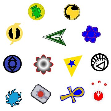 Superhero symbols by NolanAndCaleb