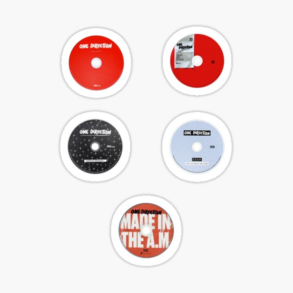 1D Discography Pack Sticker