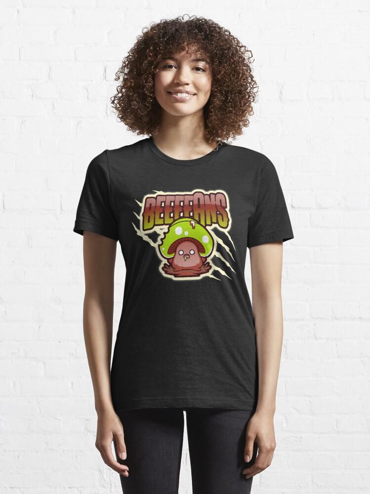 Alternate view of Beeeeans Vegan Zombie Mushroom Essential T-Shirt