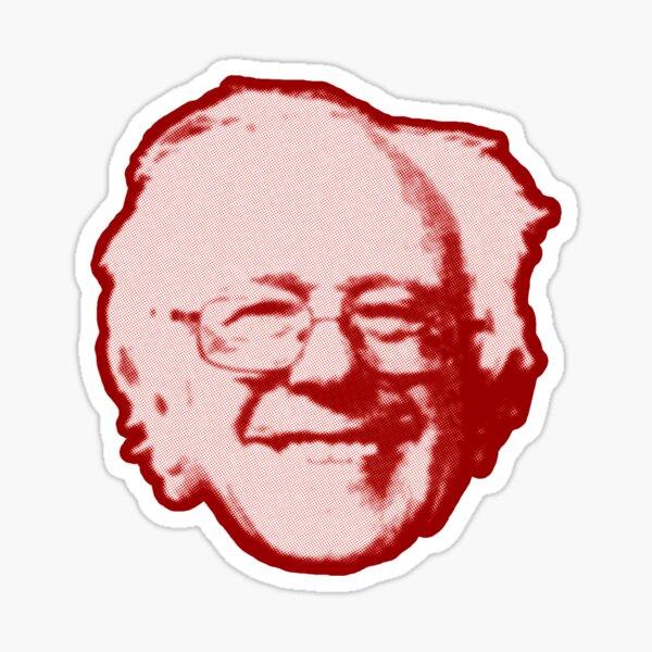 Bernie Sanders Floating Head (red) Sticker