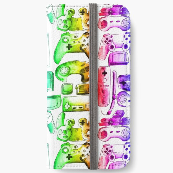 Rainbow video Game Toys iPhone Wallet