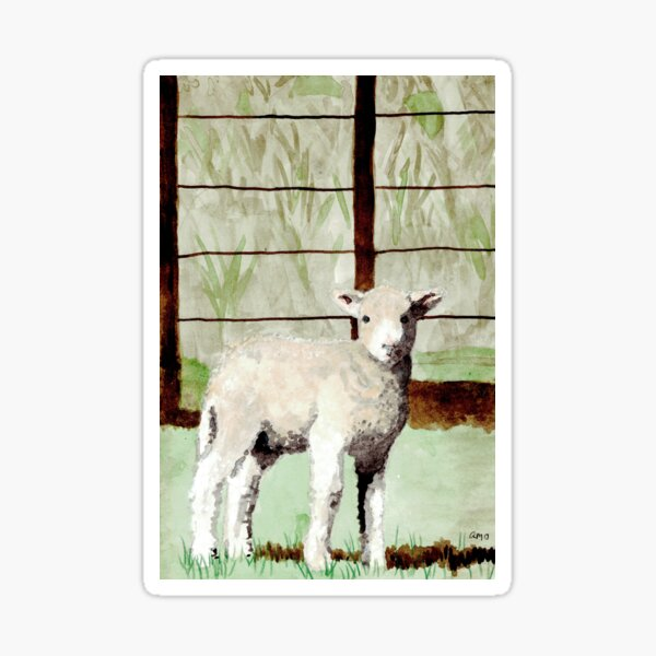 Lamb Illustration Sticker
