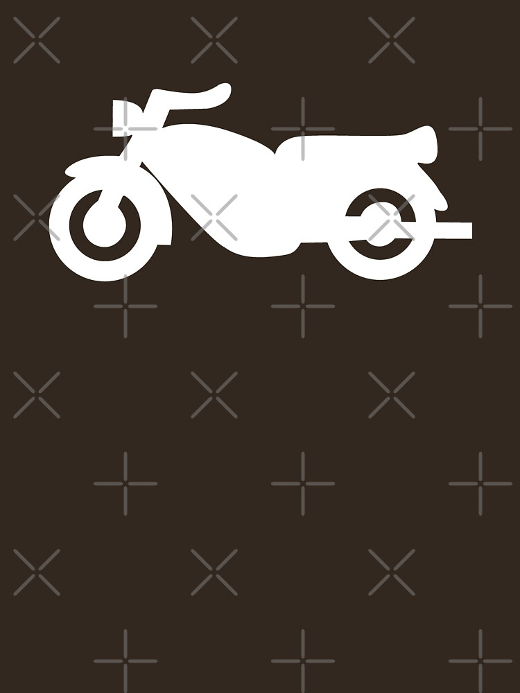 Motorcycle Icon - White by thedrumstick