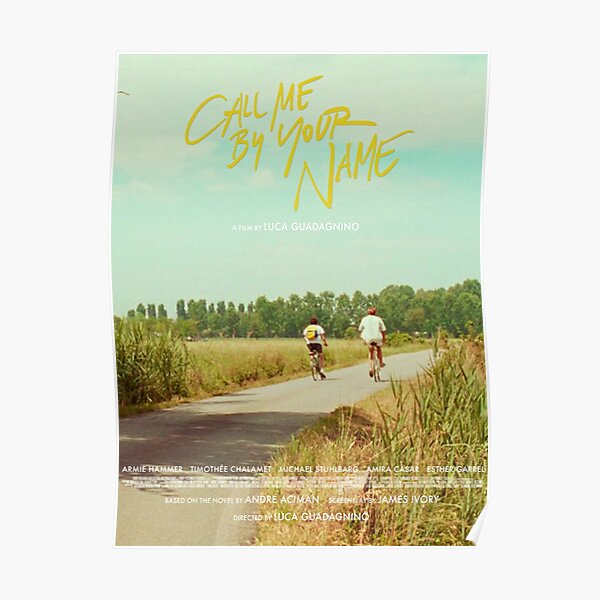 Call Me By Your Name Bike Ride Poster Poster