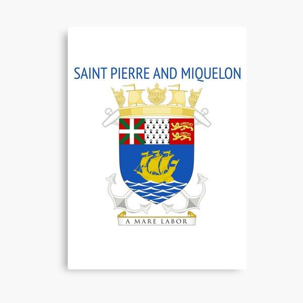 Saint Pierre and Miquelon Canvas Print