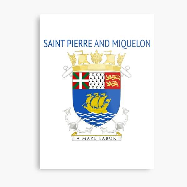Saint Pierre and Miquelon Metal Print