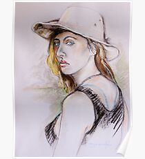 Girl With the Aussie Hat Poster