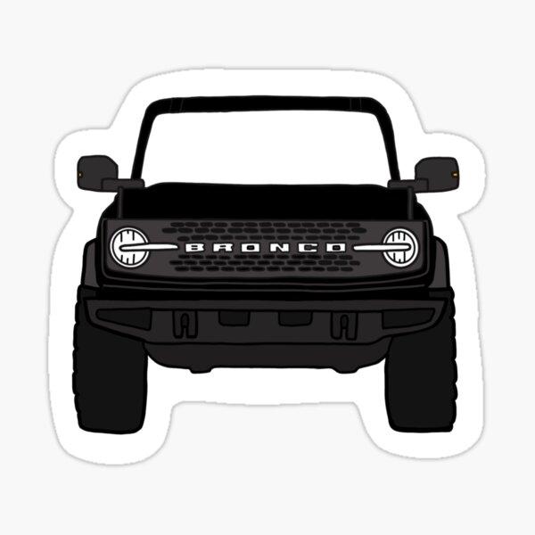 Ford Bronco 2021 black Sticker