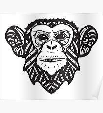 Hip Panzee | Jungleometry Collection Poster