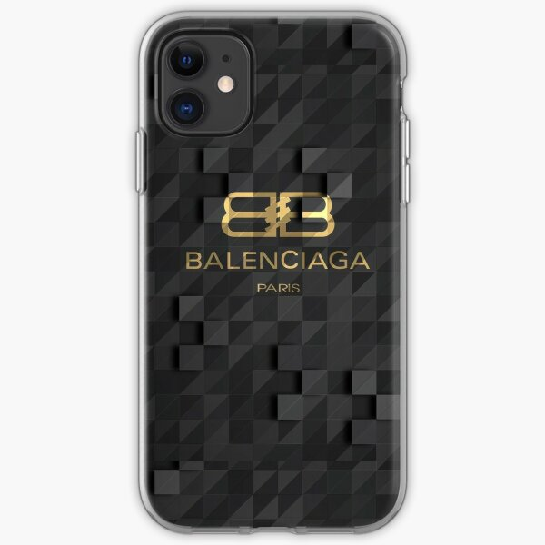 Balenciaga (Black and Gold) labelled Paris version iPhone Soft Case