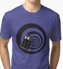 Doctor Who - TARDIS Mod Vortex Time Tunnel Tri-blend T-Shirt