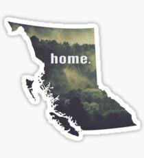 British Columbia Home  Sticker