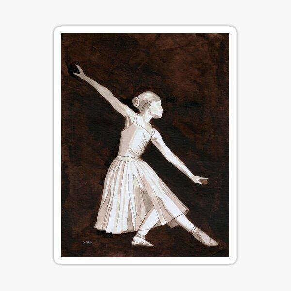Ballerina, pen and ink.  Sticker