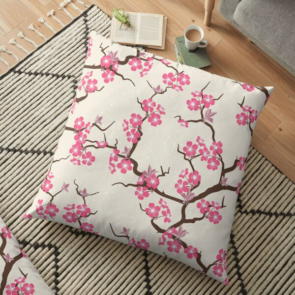 Fleurs de Sakura Coussin de sol