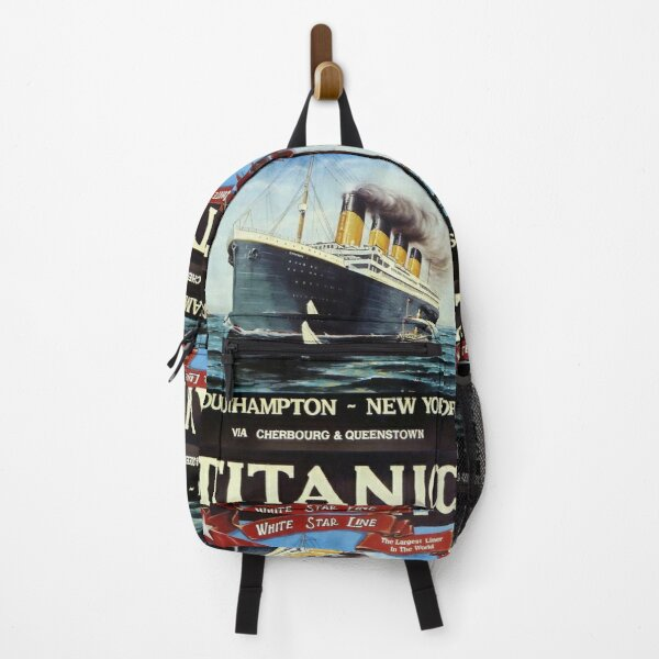 TITANIC POSTER WHITE STAR LINE ORIGINAL FROM 1912 Backpack