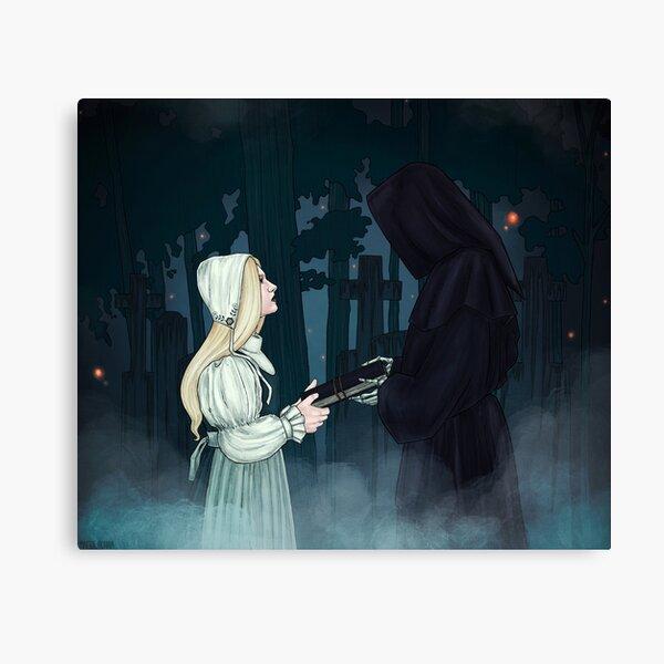 The Graveyard Wanderer  Canvas Print