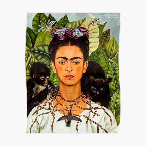 qui comprend un chat noir et un singe Poster