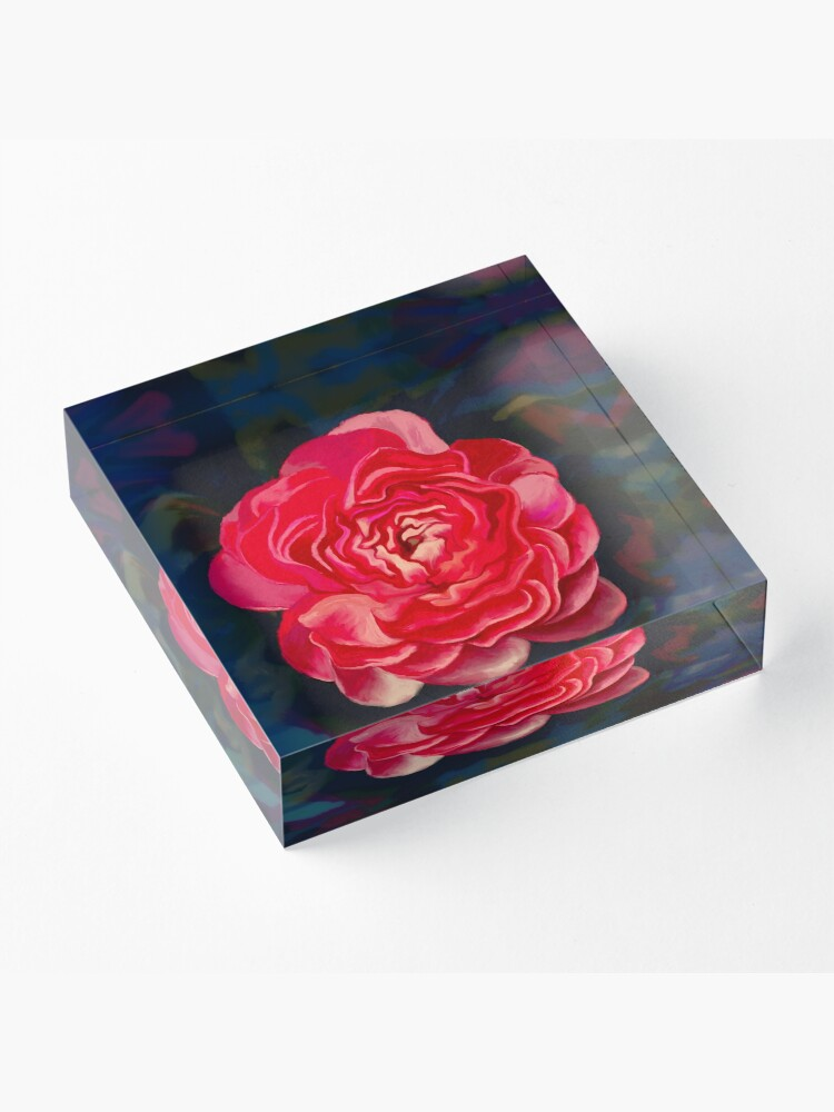 Alternate view of Put a flower where your mouth is Acrylic Block