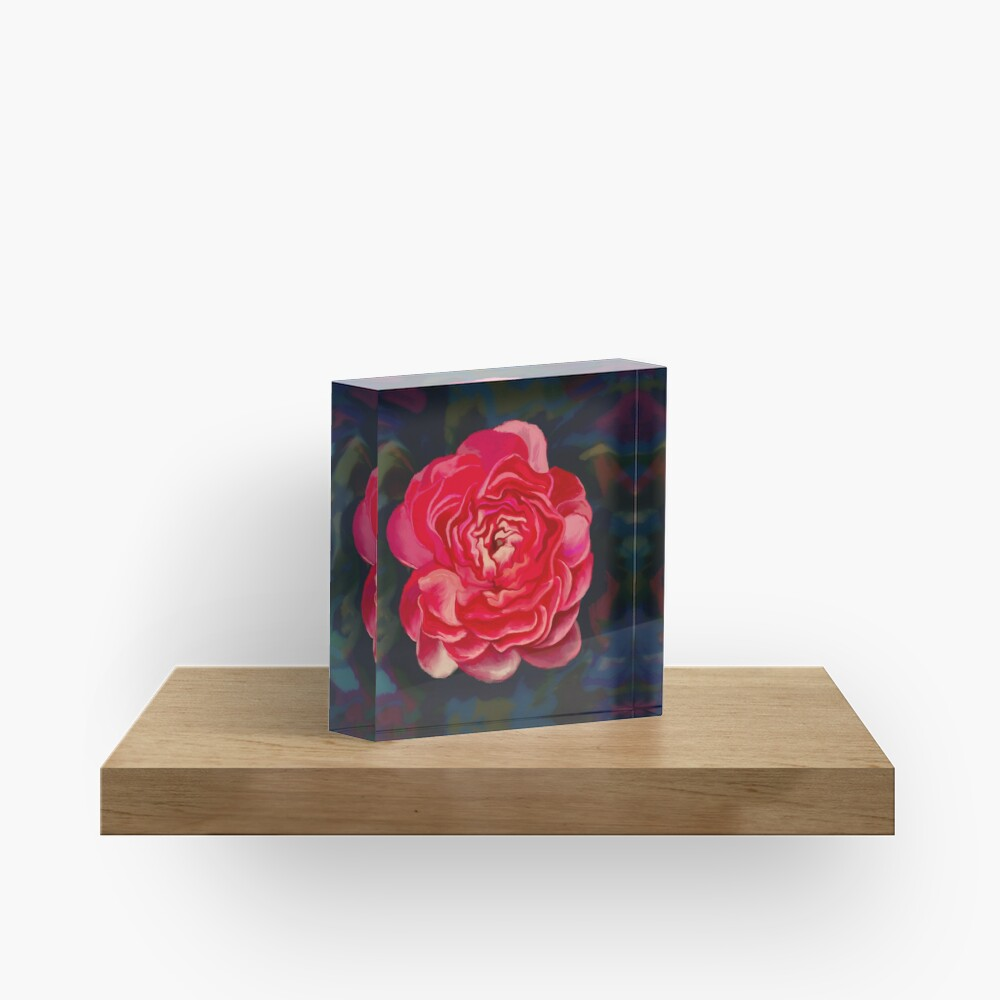 Put a flower where your mouth is Acrylic Block
