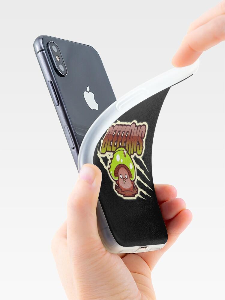Alternate view of Beeeeans Vegan Zombie Mushroom iPhone Case