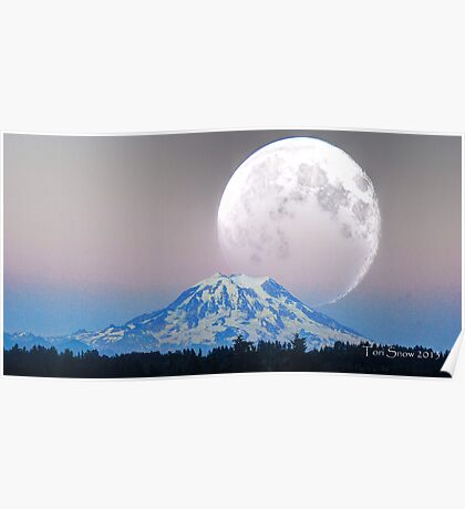 Giant Super Moon Poster