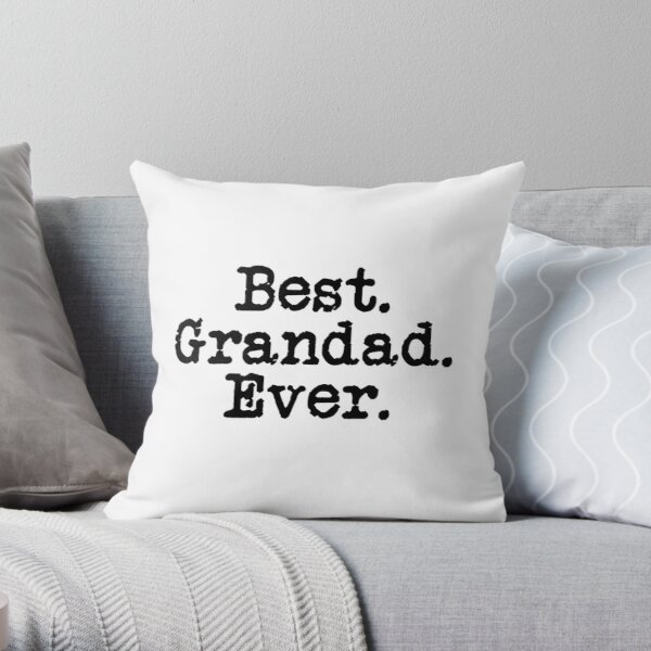 Best Grandad Ever Cool For Grandad shirt gift Throw Pillow