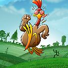 Chicken Running for His Life by Zoo-co