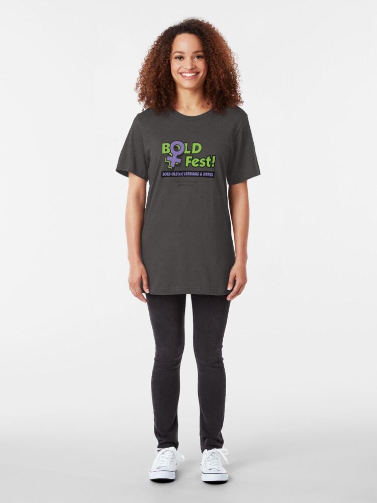 Alternate view of BOLDFest Fundraiser Logo Tee Slim Fit T-Shirt