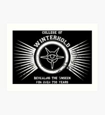 College of winterhold Art Print