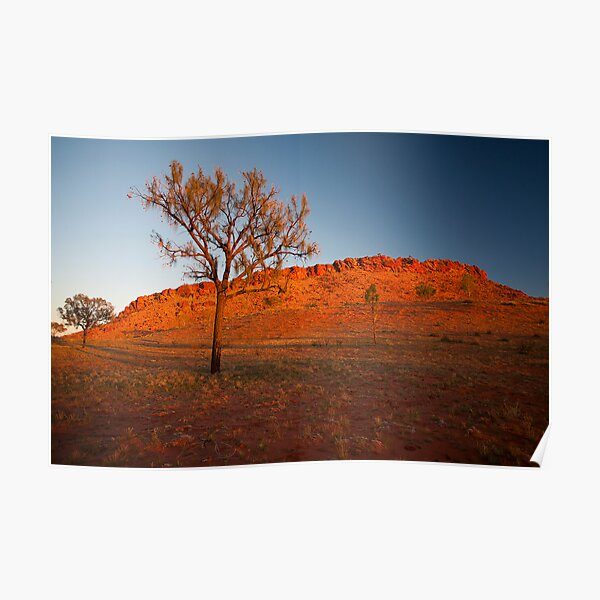 Sunrise on a Rocky Outcrop Poster