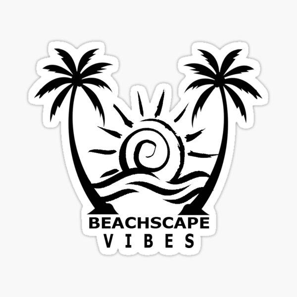 Beachscape Vibes Sticker