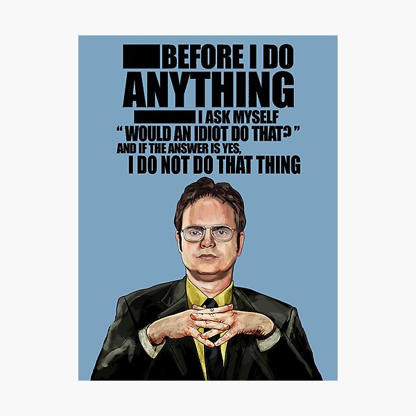 The Office - Dwight K. Schrute Photographic Print