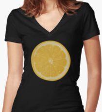 Lemon Women's Fitted V-Neck T-Shirt