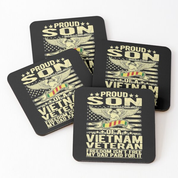 Freedom Isn't Free - Proud Son Of A Vietnam Veteran Gift Coasters (Set of 4)