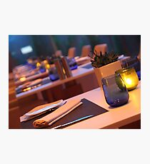 up market restaurant table Photographic Print