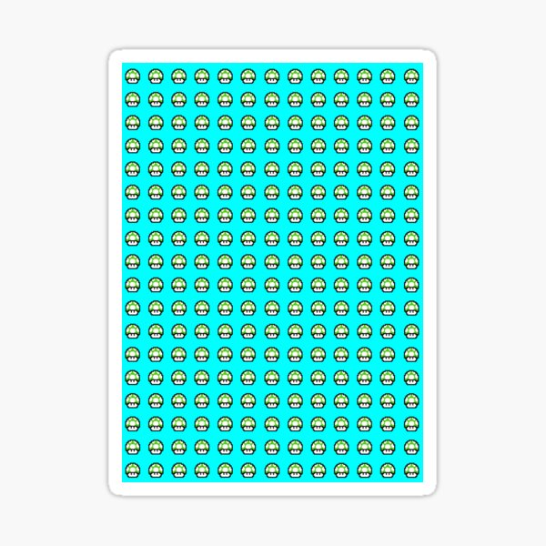 Pixel Mario Mushroom Stickers Redbubble