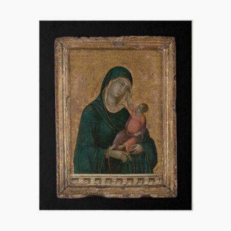 Madonna and Child,ca. 1290–1300 by Duccio di Buoninsegna Italian Art Board Print