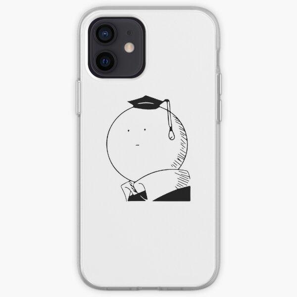 Assassination classroom Koro Sensei Black and White Coque souple iPhone