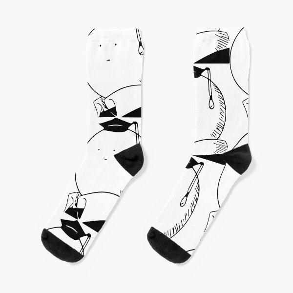 Assassination classroom Koro Sensei Black and White Calcetines