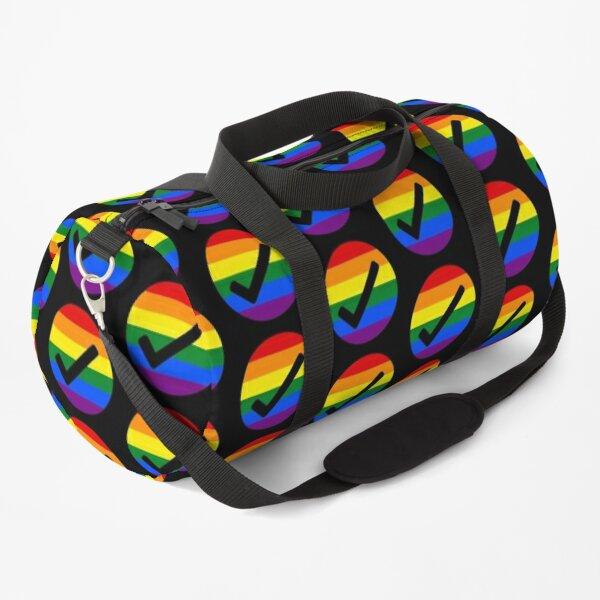 Gay friendly check mark Duffle Bag