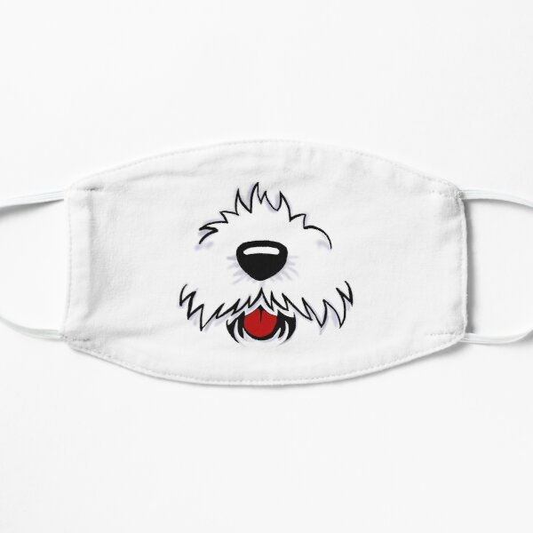 Westie Dog Face Mask Cute Covid Puppy Flat Mask