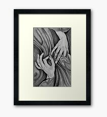 stitch in time . . . . hand portrait Framed Print