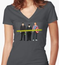Murder, He Wrote Women's Fitted V-Neck T-Shirt