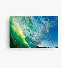 Amazing Wave Splash at Makena Canvas Print