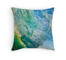 Amazing Wave Splash at Makena Throw Pillow