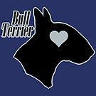 Bull Terrier <3, outlined! by stellarmule