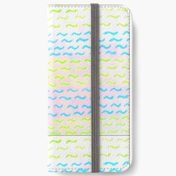 Big and colorful waves iPhone Wallet