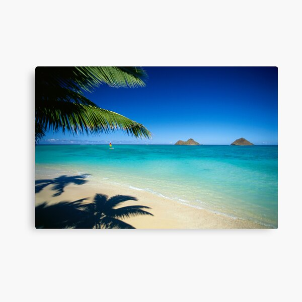 Mokulua Islands at Lanikai Beach Canvas Print