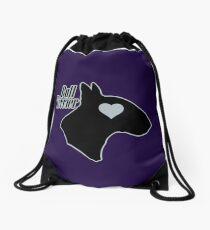 Bull Terrier <3, outlined! Drawstring Bag